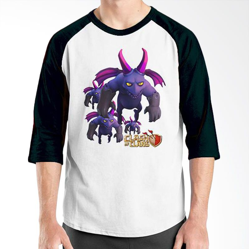 Ordinal Raglan Clash of Clans Edition 12 Hitam Putih T-Shirt Pria