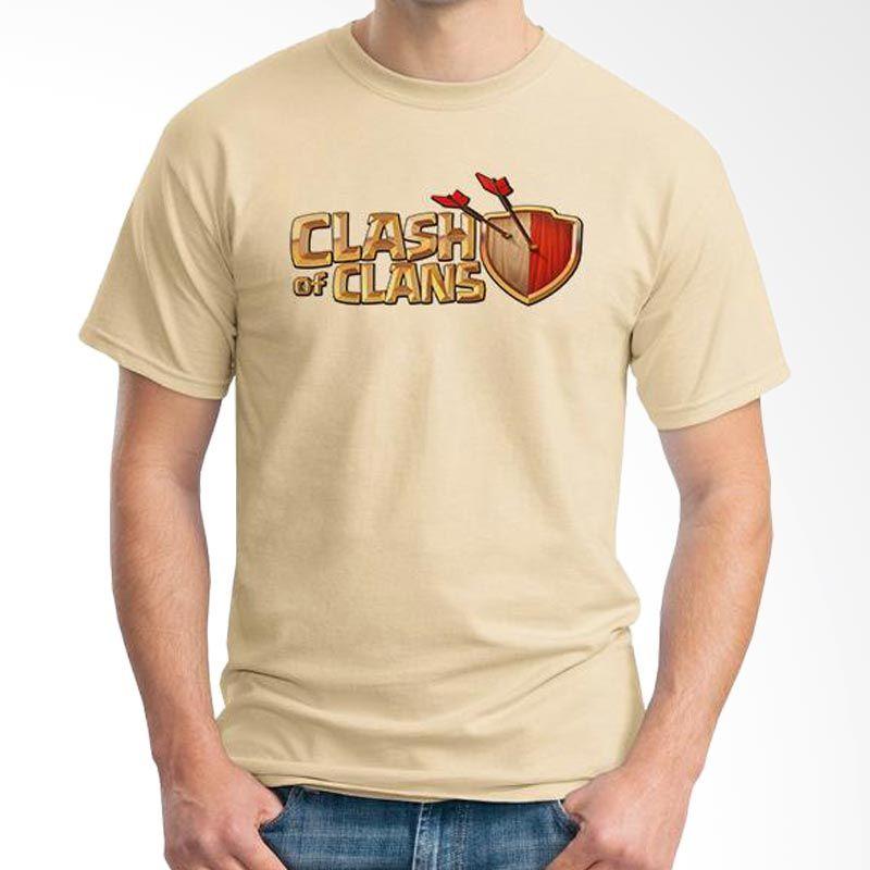 Ordinal Clash of Clans Lego Edition 01 Coklat Krem T-shirt