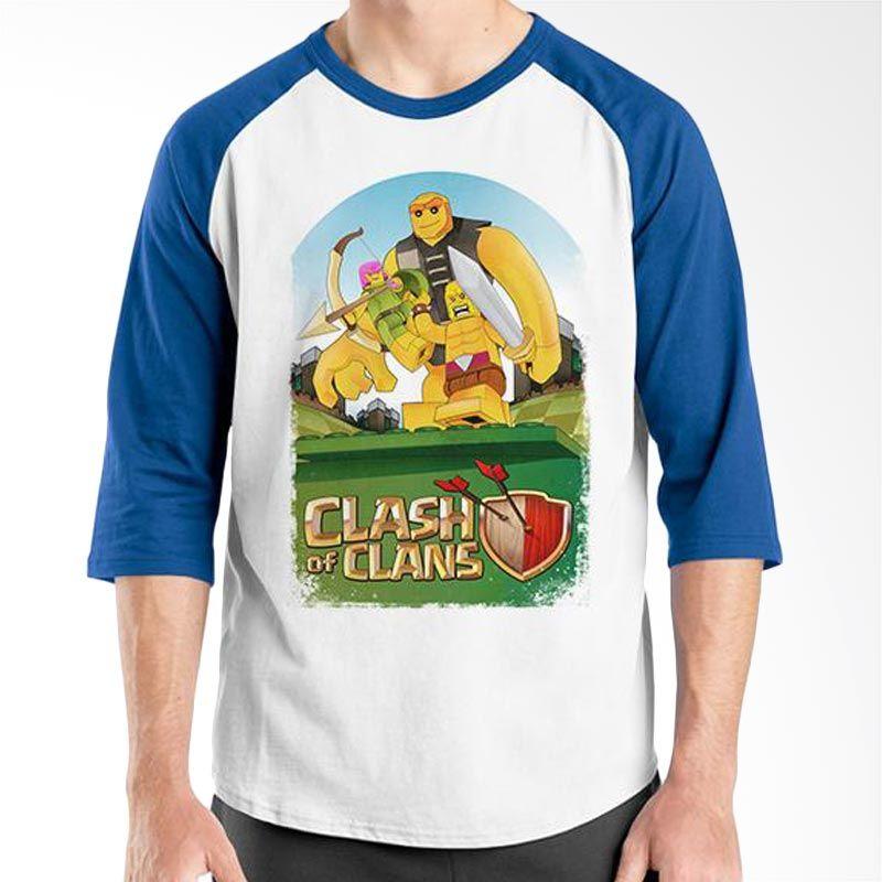 Ordinal Clash of Clans Lego Edition 03 Biru Putih Kaos Pria