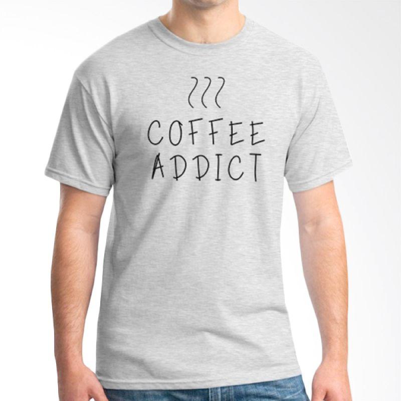 Ordinal Coffee Addict Edition 03 Abu-abu kaos Pria
