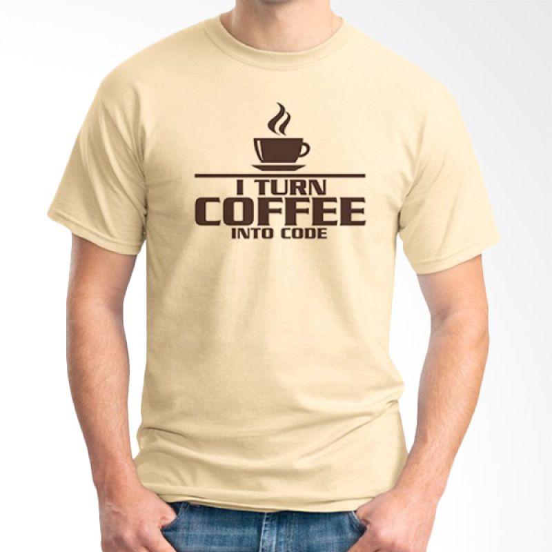Ordinal Coffee Addict Edition 05 Coklat Krem kaos Pria