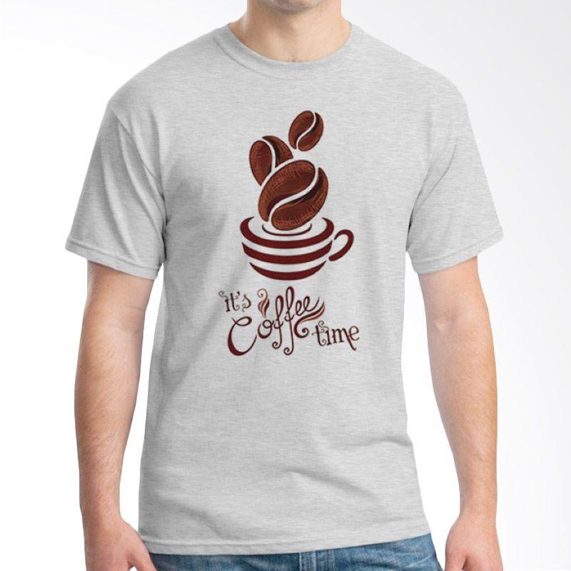 Ordinal Coffee Addict Edition 08 Abu-abu kaos Pria