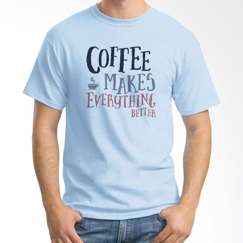 Ordinal Coffee Addict Edition 15 Biru Muda T-Shirt Pria