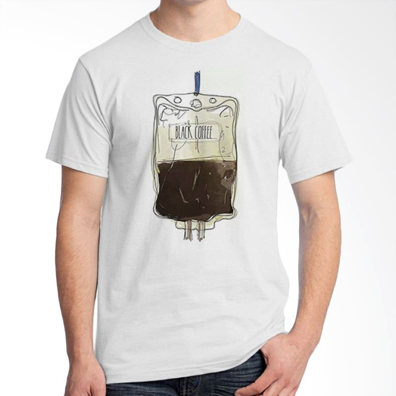 Ordinal Coffee Addict Edition 17 Abu-abu T-Shirt Pria