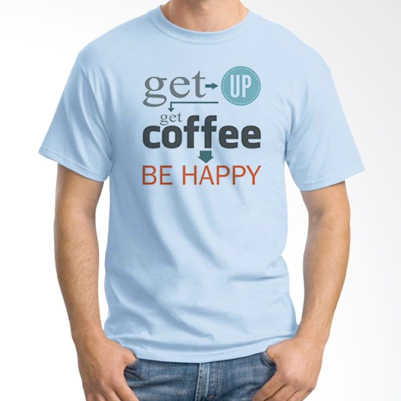 Ordinal Coffee Addict Edition 18 Biru Muda T-Shirt Pria