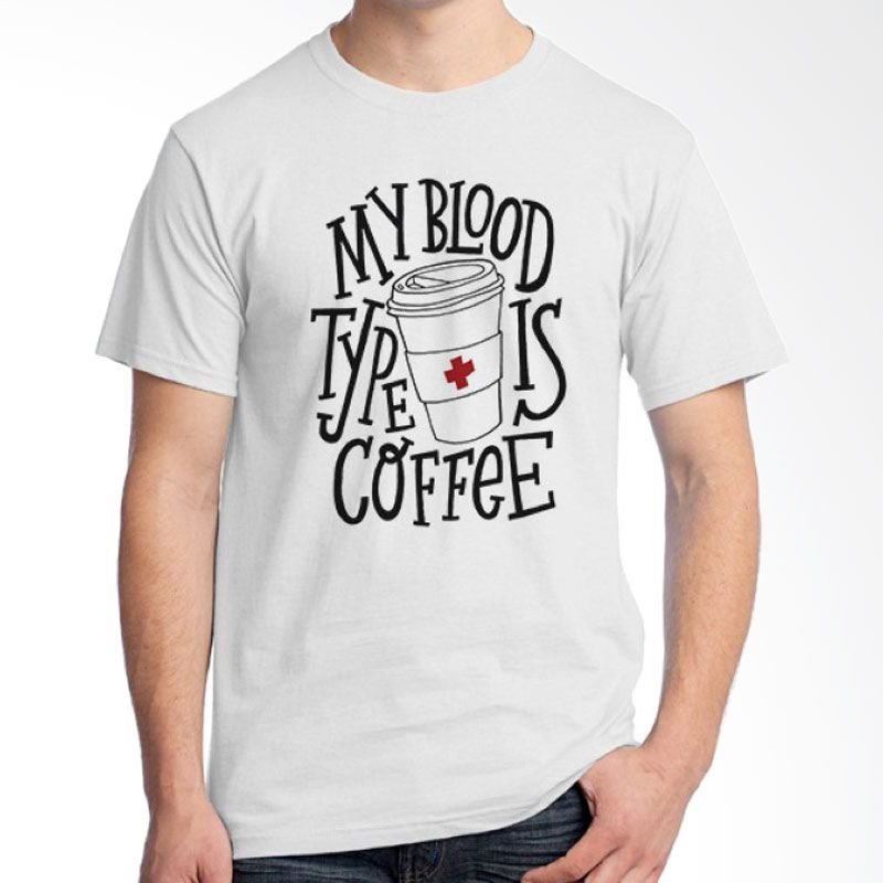 Ordinal Coffee Addict Edition 20 Putih T-Shirt Pria