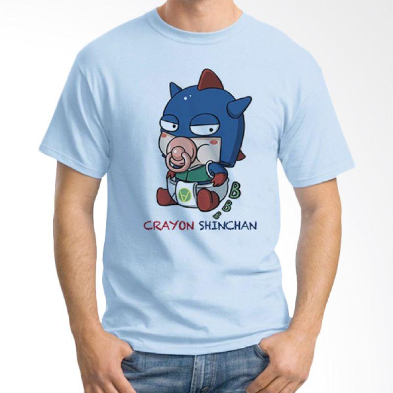 Ordinal Crayon Shinchan 08 Biru Muda Kaos Pria