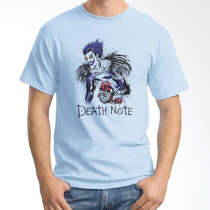 Ordinal Death Note 04 Biru Muda T-Shirt Pria