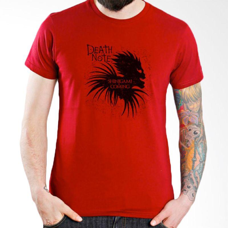 Ordinal Death Note 06 Merah T-Shirt Pria