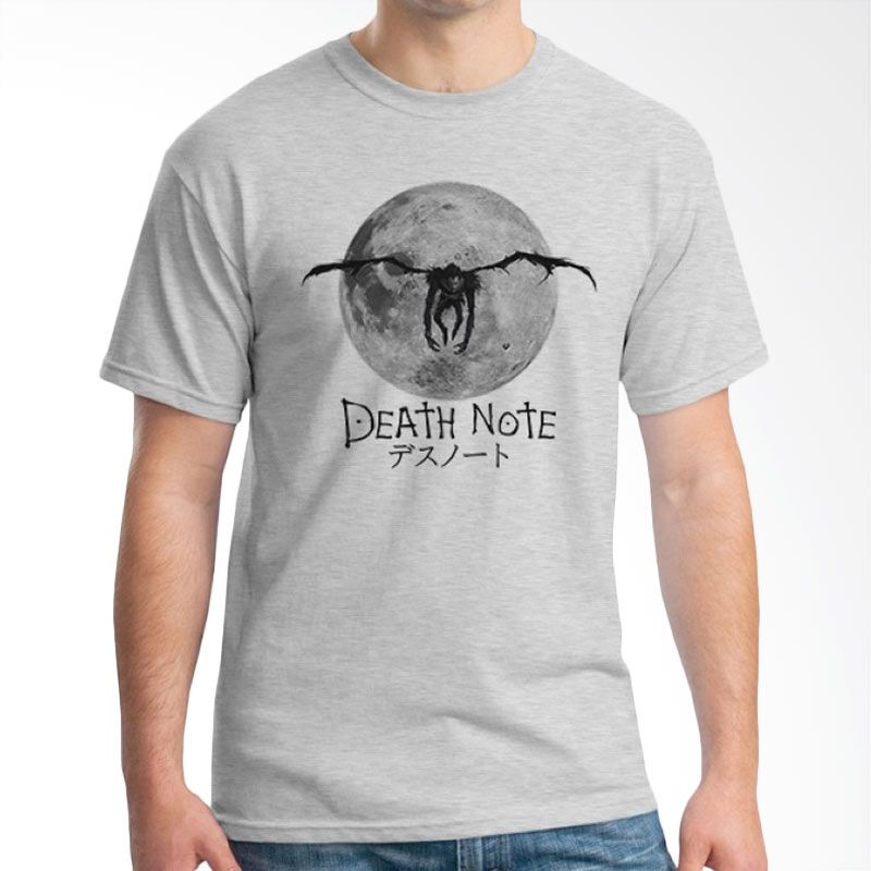 Ordinal Death Note 08 Abu-abu T-Shirt Pria