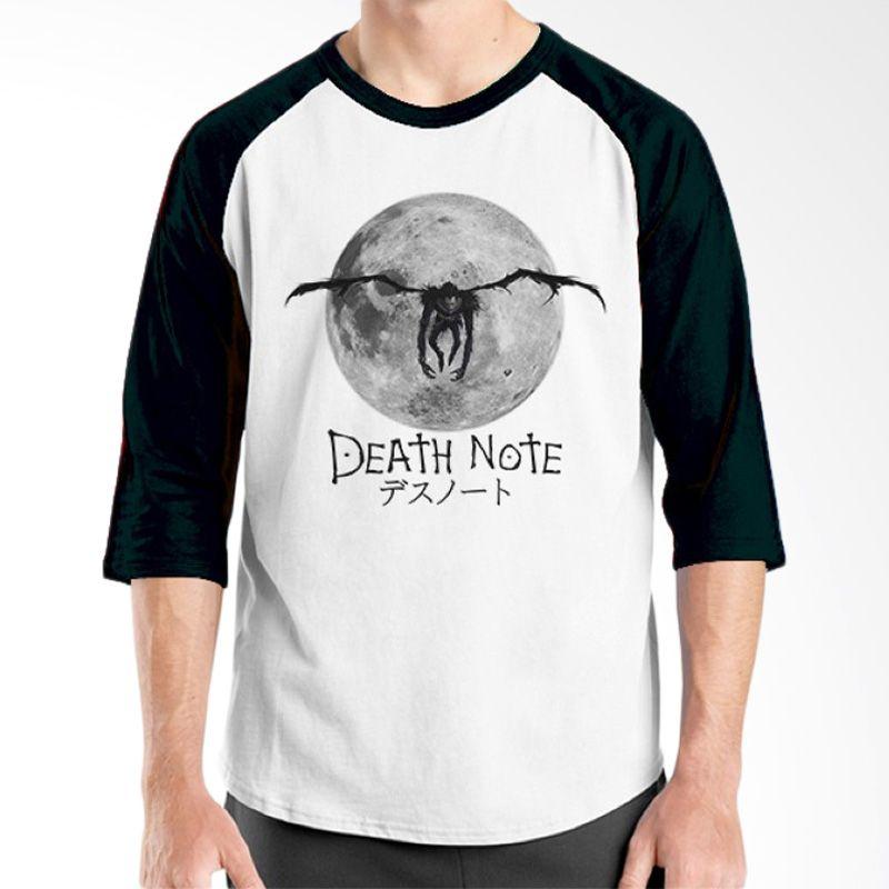 Ordinal Raglan Death Note 08 Putih Hitam T-Shirt Pria