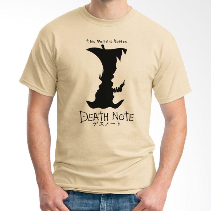 Ordinal Death Note 09 Krem T-Shirt Pria