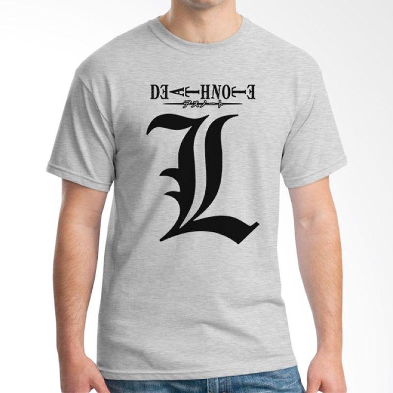 Ordinal Death Note 10 Abu-abu T-Shirt Pria