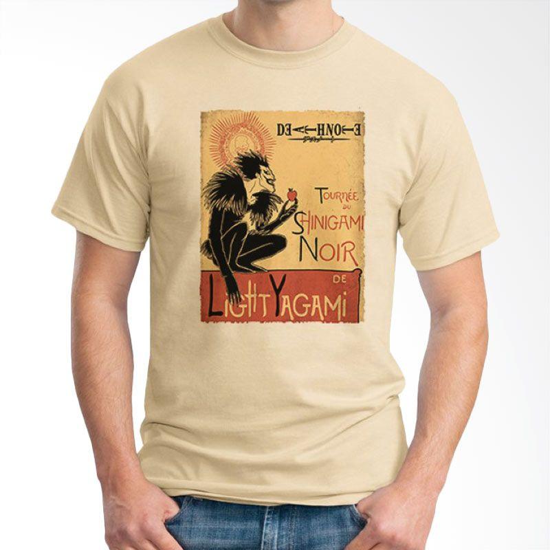 Ordinal Death Note 11 Krem T-Shirt Pria