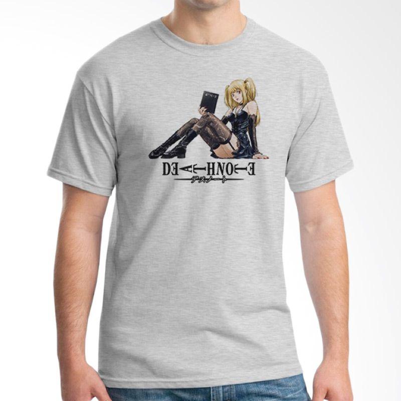 Ordinal Death Note 13 Abu-abu T-Shirt Pria
