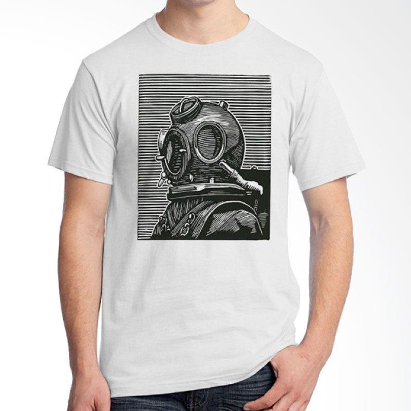 Ordinal Diving Geek 01 Putih Kaos Pria