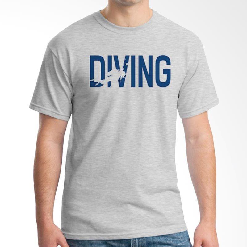 Ordinal Diving Geek 05 Abu-abu Kaos Pria