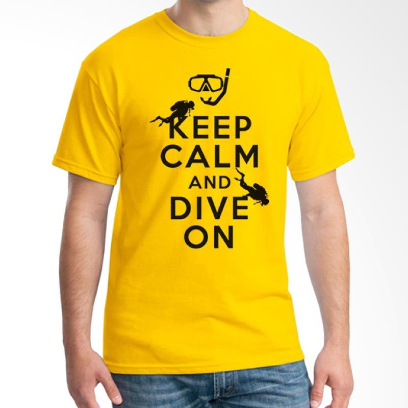 Ordinal Diving Geek 06 Kuning Kaos Pria