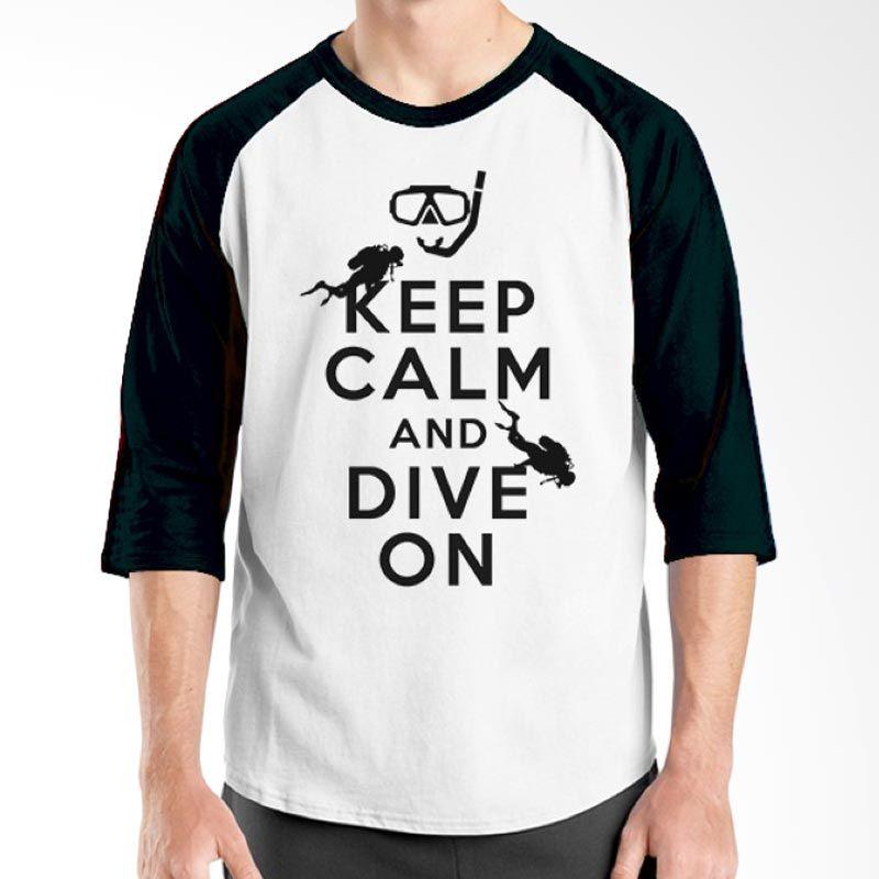 Ordinal Diving Geek 06 Raglan Hitam Putih T-Shirt Pria