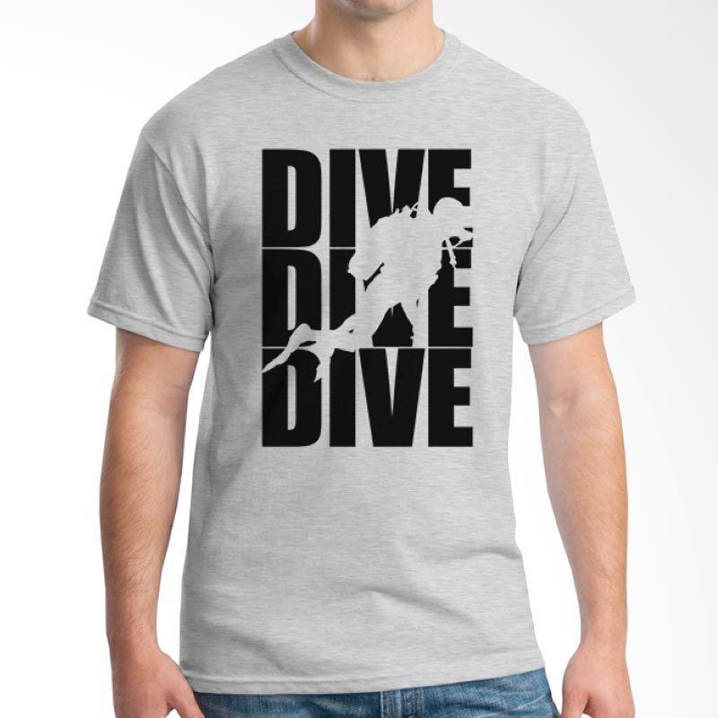 Ordinal Diving Geek 13 Abu-abu Kaos Pria