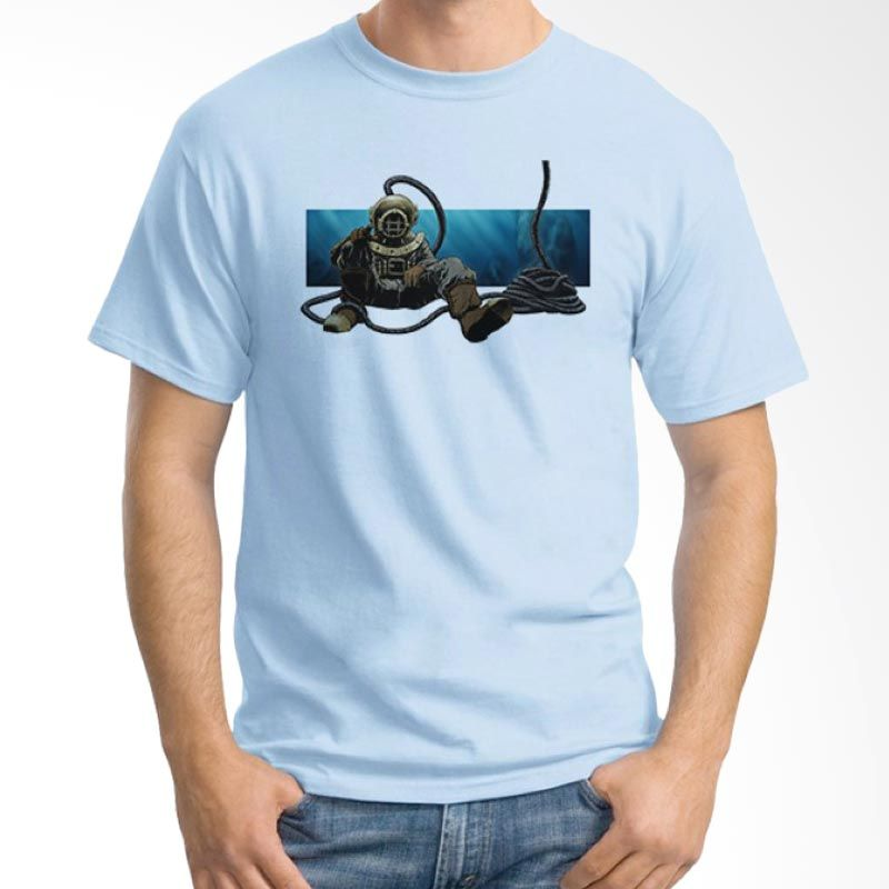 Ordinal Diving Geek 14 Biru Muda Kaos Pria