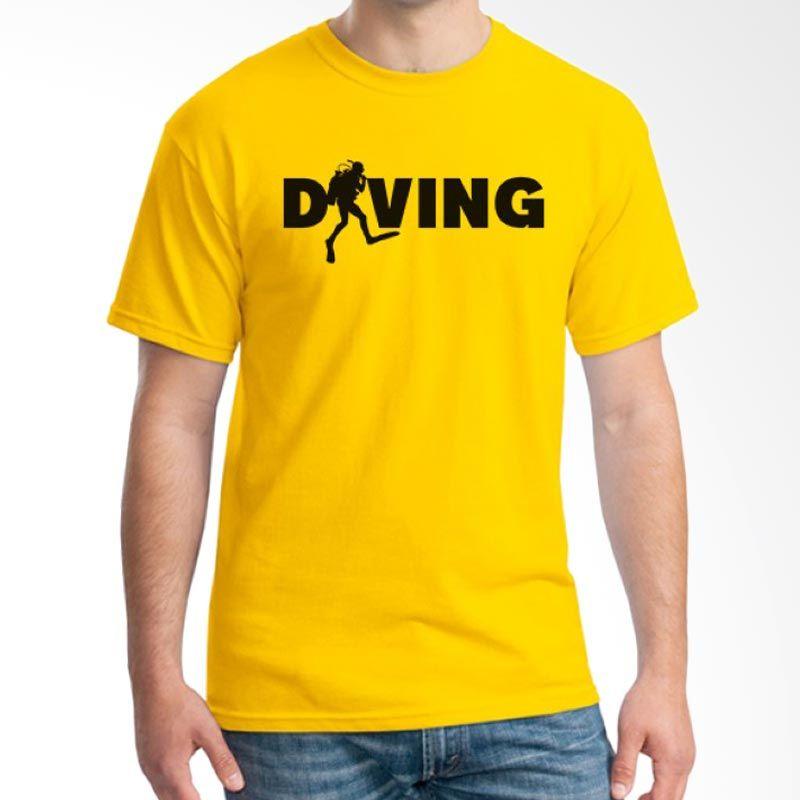 Ordinal Diving Geek 15 Kuning Kaos Pria