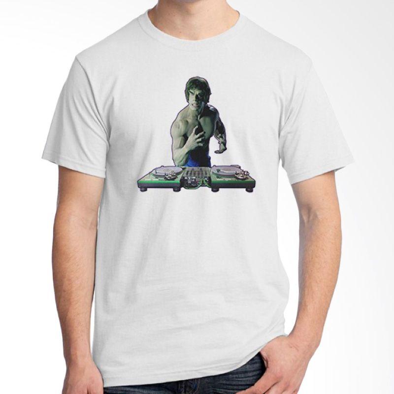 Ordinal DJ Addict 05 Putih Kaos Pria