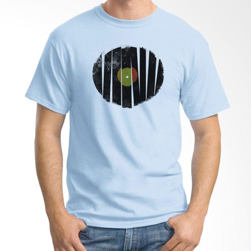 Ordinal DJ Addict 07 Biru Muda Kaos Pria