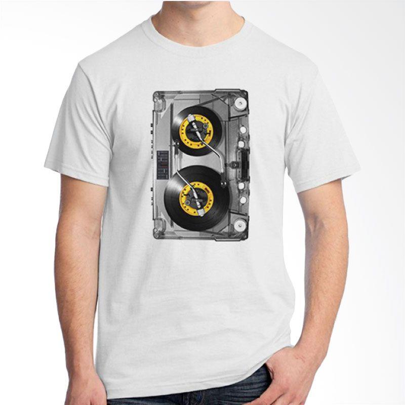 Ordinal DJ Addict 09 Putih Kaos Pria
