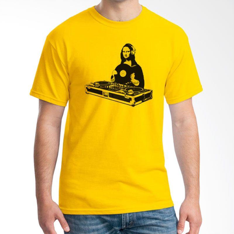 Ordinal DJ Addict 12 Kuning Kaos Pria