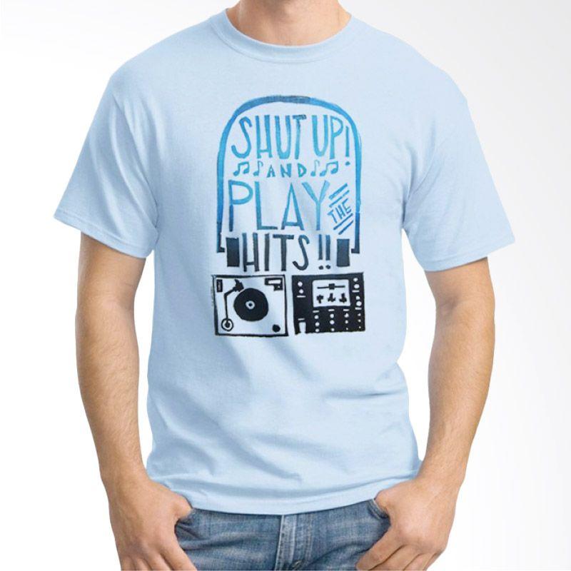 Ordinal DJ Addict 13 Biru Muda Kaos Pria