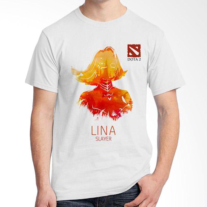 Ordinal DOTA Games Edition 02 Putih Kaos Pria