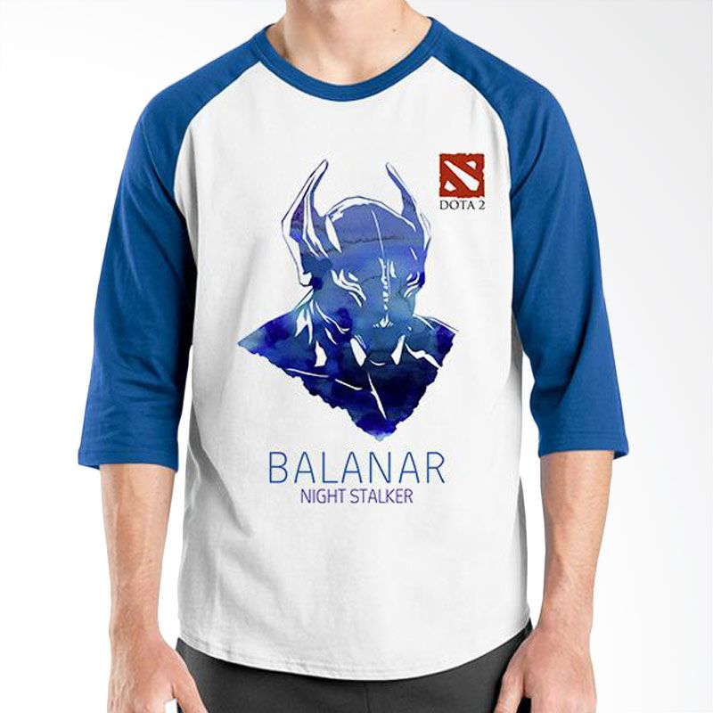 Ordinal Raglan DOTA Games Edition 07 Biru Putih T-Shirt Pria