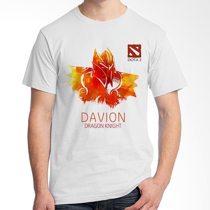 Ordinal DOTA Games Edition 10 Putih T-Shirt Pria