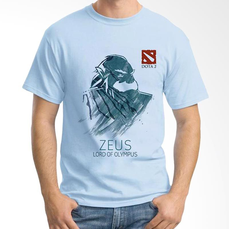 Ordinal DOTA Games Edition 12 Biru Muda T-Shirt Pria