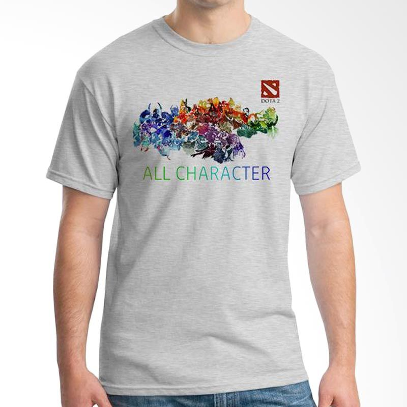 Ordinal DOTA Games Edition 16 Grey T-Shirt Pria