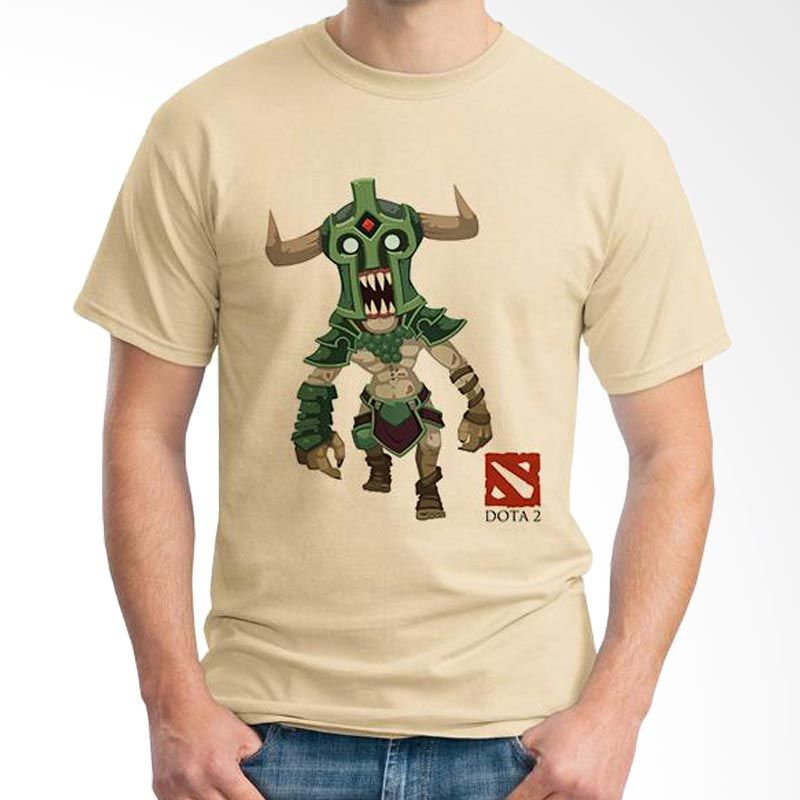 Ordinal DOTA Games Edition 18 Coklat Krem T-Shirt Pria