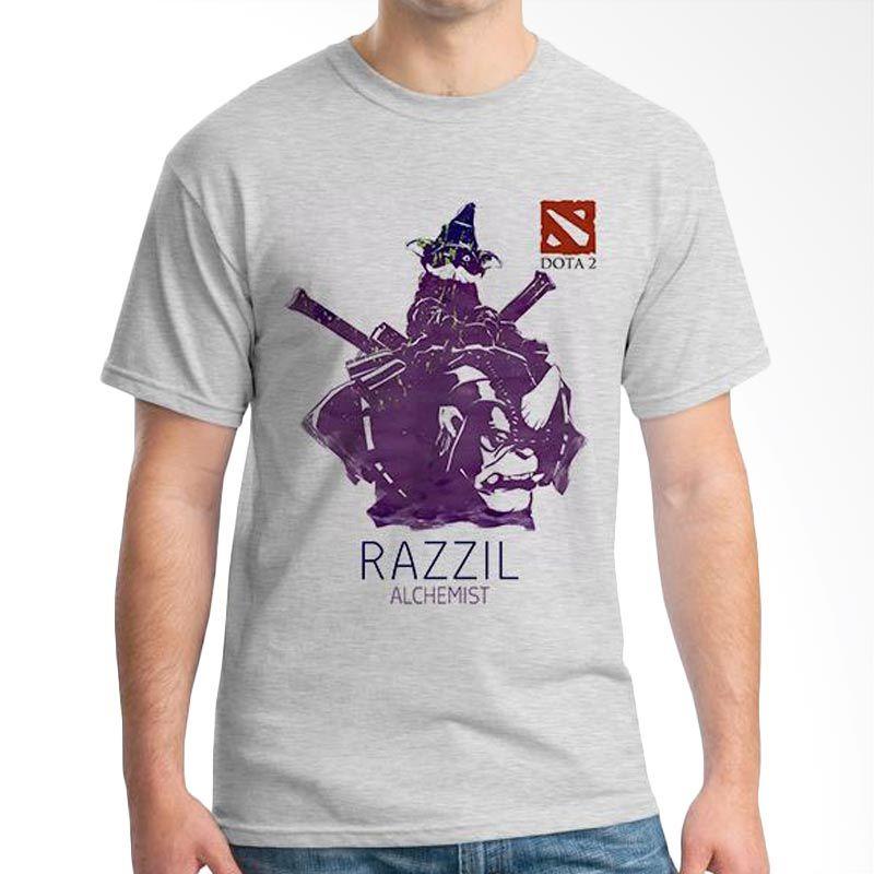Ordinal DOTA Games Edition 22 Grey T-Shirt Pria