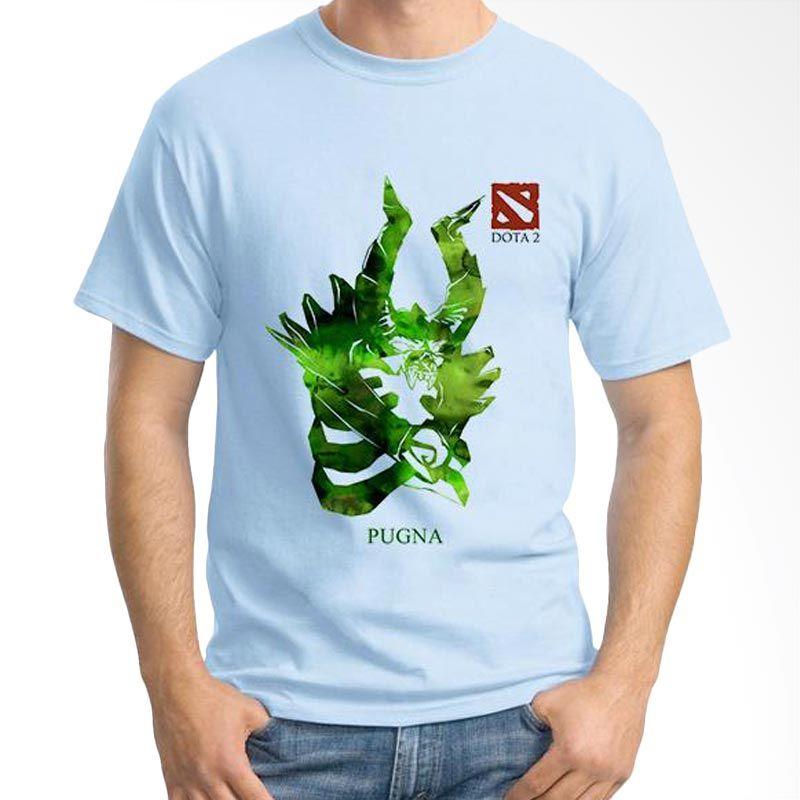 Ordinal DOTA Games Edition 23 Biru Muda T-Shirt Pria
