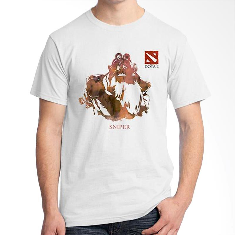 Ordinal DOTA Games Edition 24 Putih T-Shirt Pria