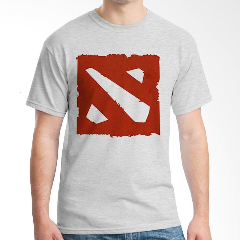 Ordinal DOTA Logo Edition Grey Kaos Pria