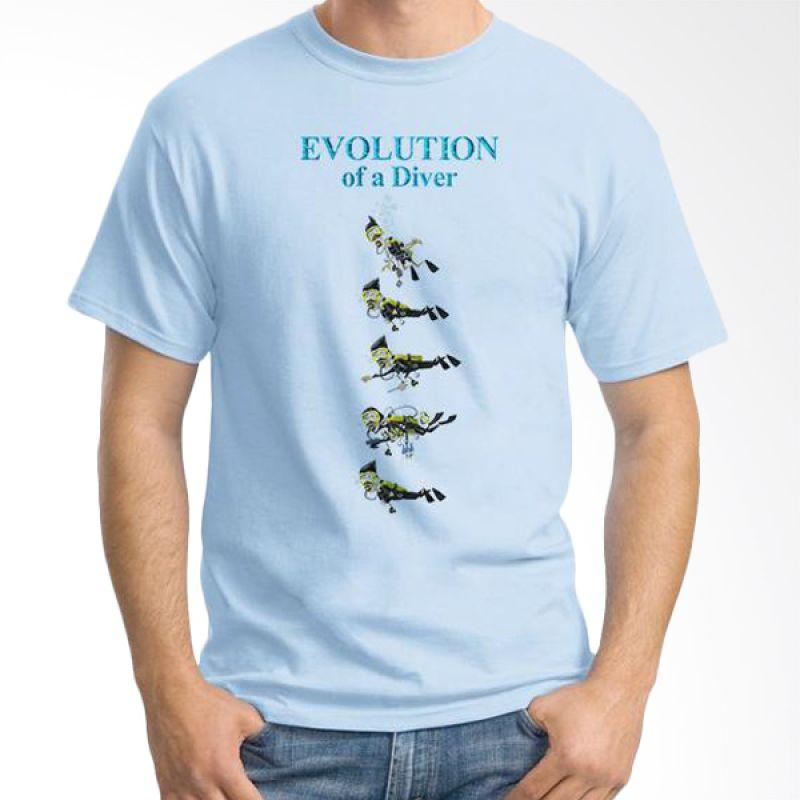 Ordinal Evolution Edition Diver Biru Terang T-shirt Pria