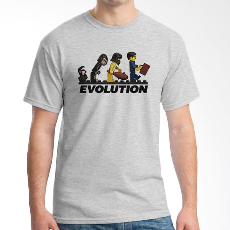 Ordinal Evolution Edition Human Lego Abu-abu T-Shirt Pria