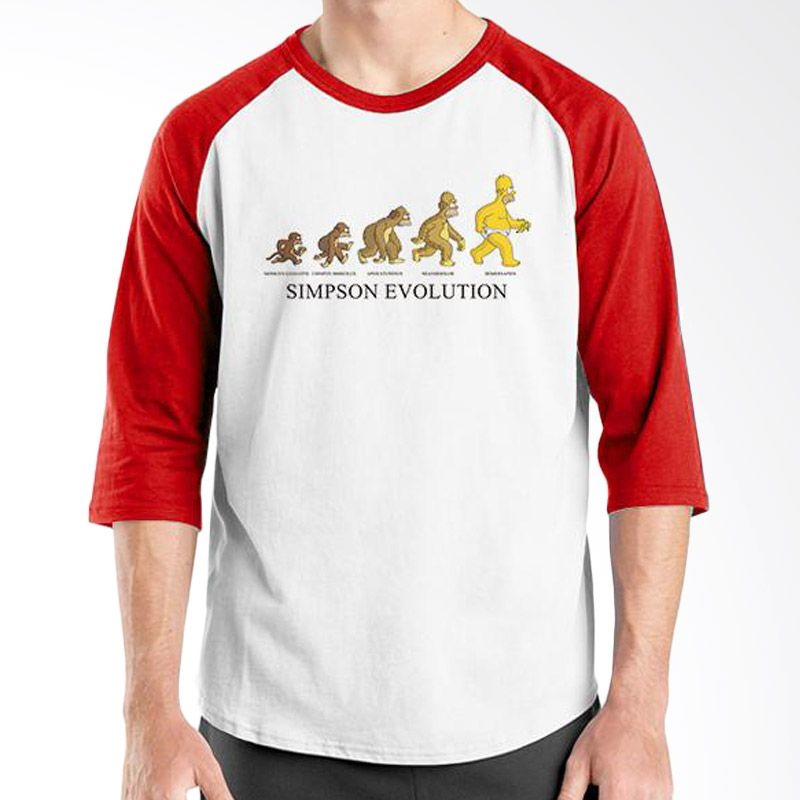 Ordinal Evolution Edition Simpson Merah Putih Kaos Pria