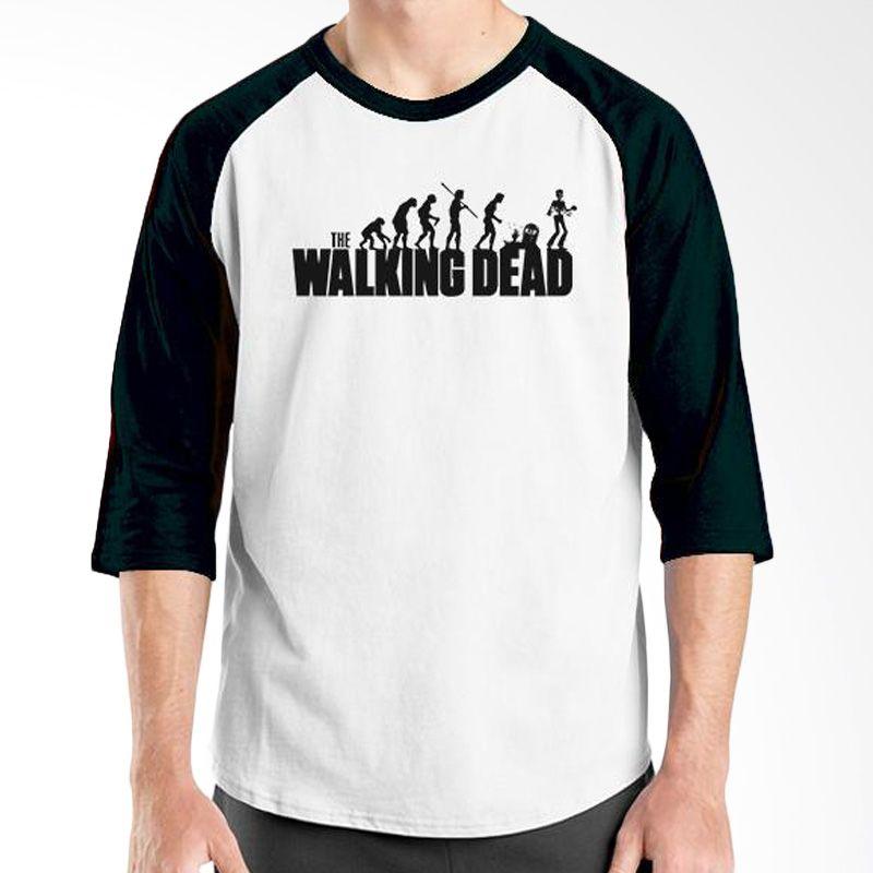 Ordinal Evolution Edition Walking Dead Hitam Putih Kaos Pria