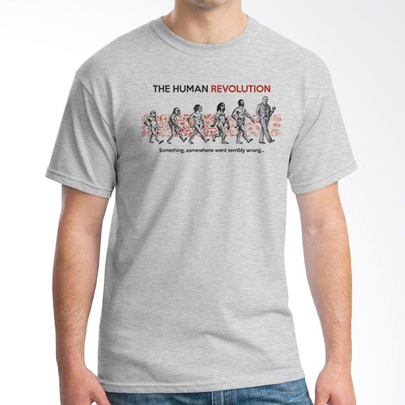 Ordinal Evolution Human Revolution Edition Abu-abu T-Shirt Pria