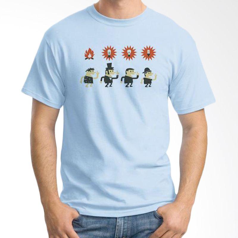 Ordinal Evolution Idea Edition Biru Terang T-Shirt Pria
