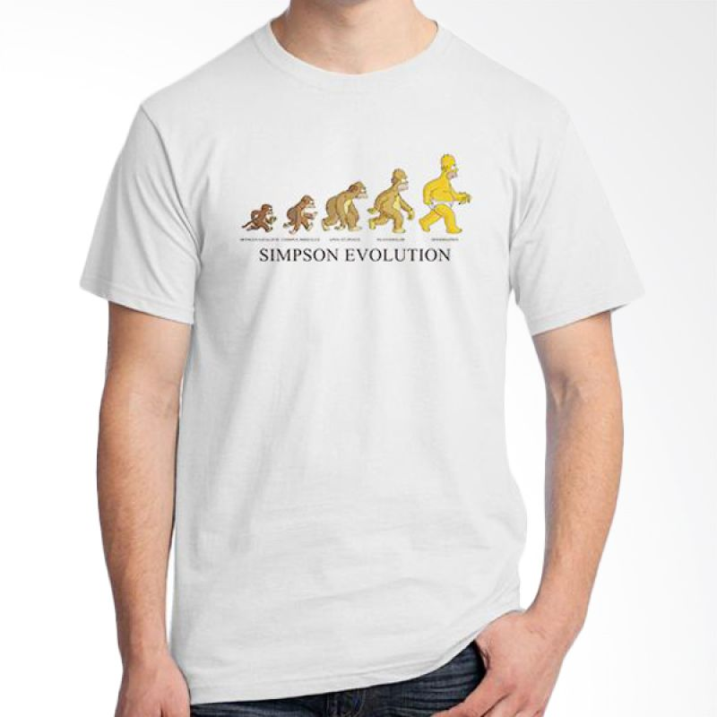 Ordinal Evolution Simpson Edition Putih T-Shirt Pria