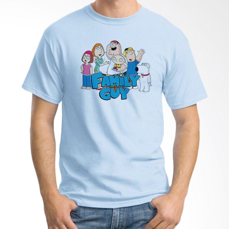 Ordinal Family Guy Biru Muda Kaos Pria