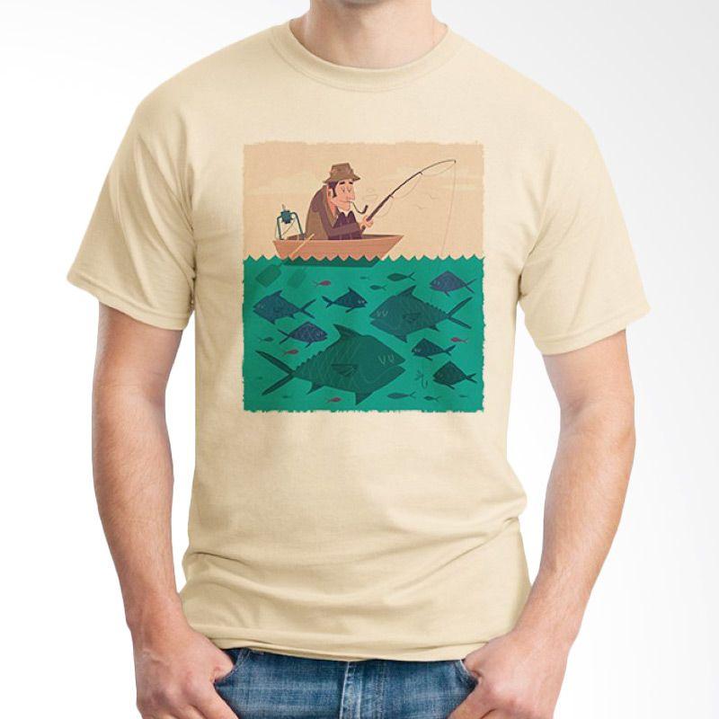 Ordinal Fishing Edition 03 Coklat Krem Kaos Pria